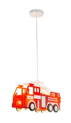 Hängelampe KITA Kunststoff multicolor, Feuerwehrauto – Bild 1