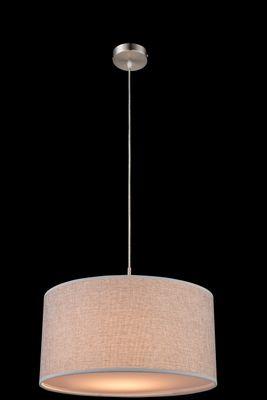 Hängelampe PACO nickel matt, Kunststoff, Textil grau, Acryl satiniert, inkl. Aufhängung – Bild 2