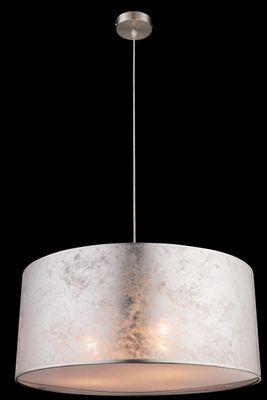 Hängelampe AMY I, nickel matt, Textil silber metallic, Globo 15188H1 – Bild 2