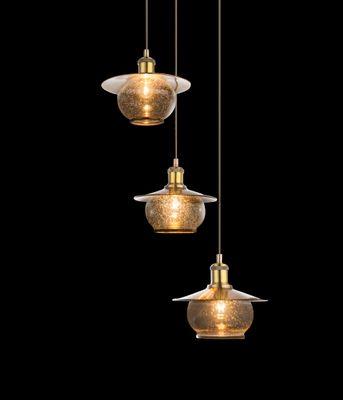 Hängelampe NEVIS Metall bronzefarben, Glas – Bild 4
