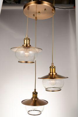 Hängelampe NEVIS Metall bronzefarben, Glas – Bild 5