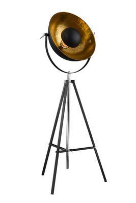 Stehlampe XIRENA, Chrom schwarz, Metall schwarz, Globo 58286 – Bild 1