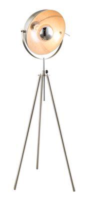 Stehlampe NOSY, nickel matt, silber metallic, Globo 58306