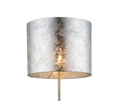 Stehlampe AMY I, nickel matt, Textil silber metallic, Globo 15188S – Bild 4