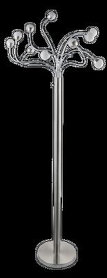 Stehlampe ROSLIN, nickel matt, Kunststoff opal, Globo 24134-10S – Bild 2
