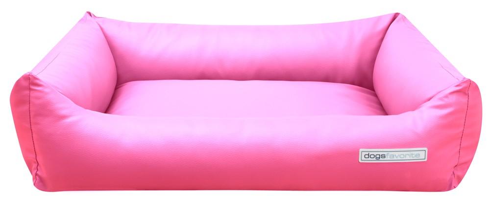 Hundebett dogsfavorite kunstleder pink