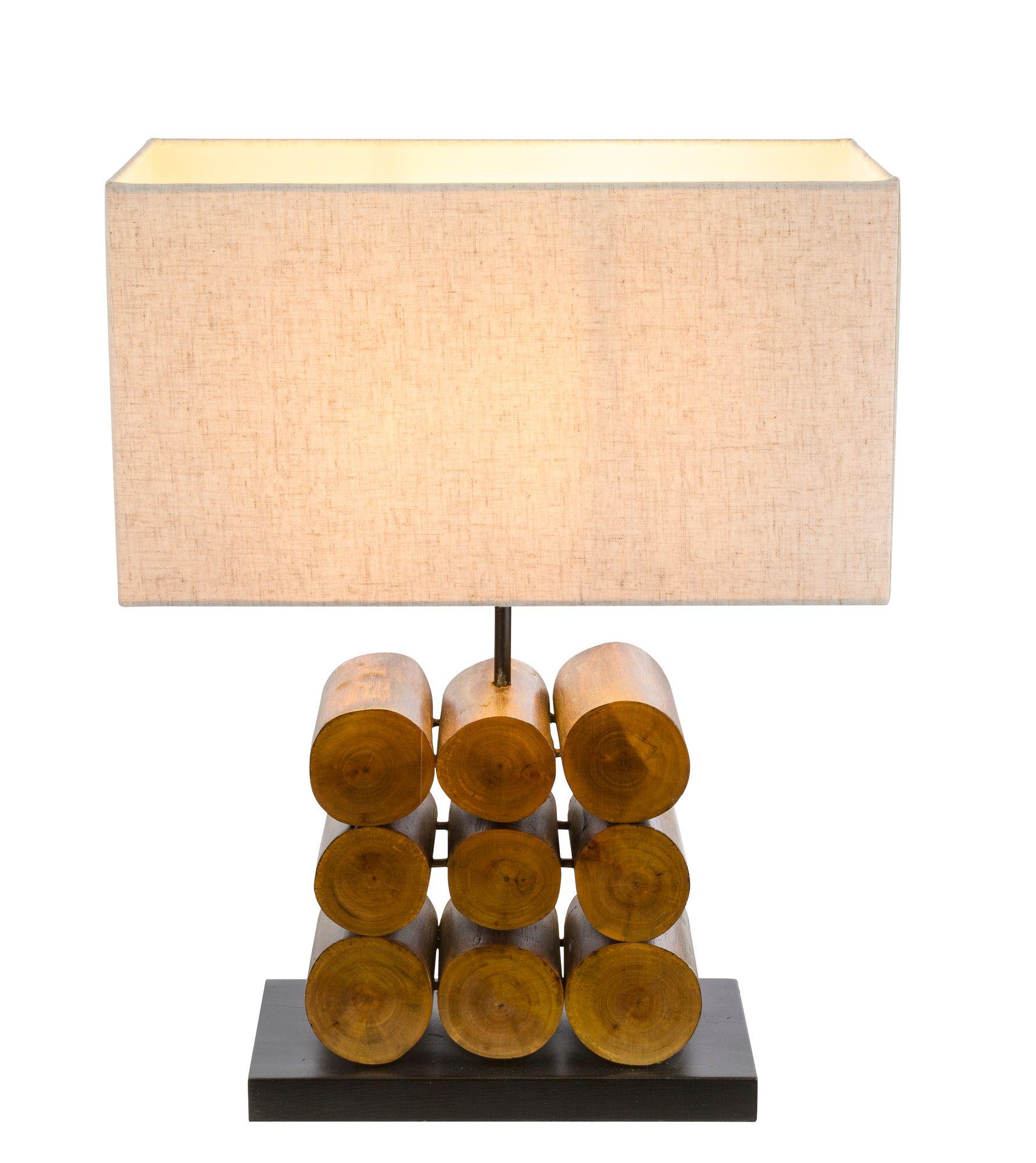 tischlampe holz grau textil grau tischlampen. Black Bedroom Furniture Sets. Home Design Ideas