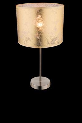Tischlampe AMY I, nickel matt, Textil goldfarben, Globo 15187T1 – Bild 2