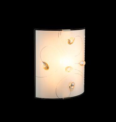 Wandlampe TAVEUNI Chrom, Glas satiniert, K5 Kristalle amber – Bild 3