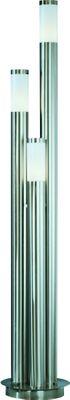 Aussenbeleuchtung BOSTON, Edelstahl, Kunststoff opal, Globo 3159 – Bild 1