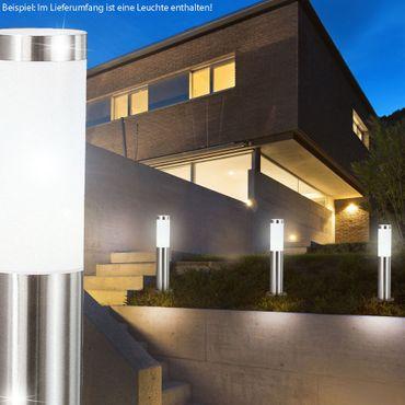Aussenbeleuchtung BOSTON LED, Edelstahl, Kunststoff opal, Globo 3158LED – Bild 2