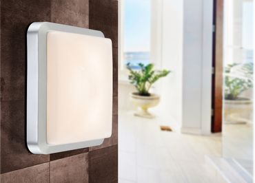Aussenlampe JOHN Kunststoff silber metallic, LED – Bild 3