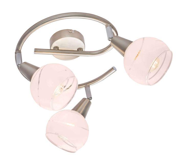 LED Strahler ELLIOTT, nickel matt, Glas satiniert, Globo 54341-3G