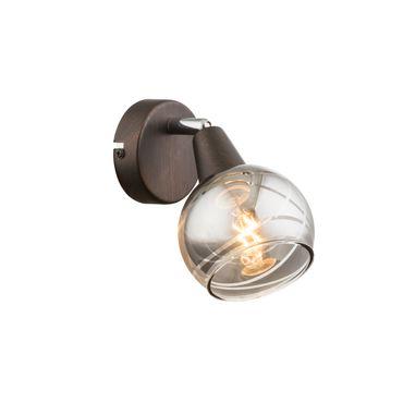 LED Strahler ISLA, Metall bronzefarben, Glas rauch, Globo 54347-1 – Bild 2