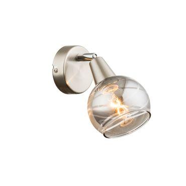 LED Strahler ROMAN, nickel matt, Glas rauch, Globo 54348-1 – Bild 2