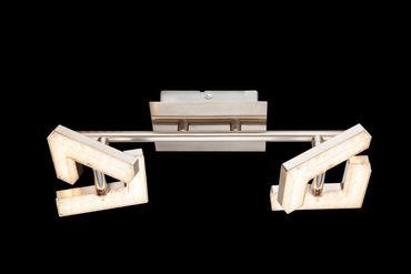 LED Strahler EMMA, nickel matt, Acryl weiss, Globo 56118-2 – Bild 2