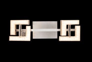 LED Strahler EMMA, nickel matt, Acryl weiss, Globo 56118-2 – Bild 3