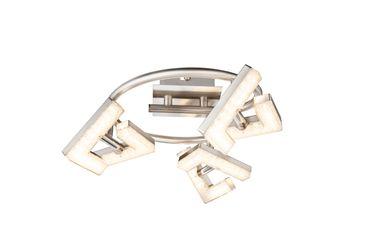 LED Strahler EMMA, nickel matt, Acryl weiss, Globo 56118-3 – Bild 1