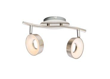 LED Strahler ABRIL, nickel matt, Kunststoff satiniert, Globo 56132-2