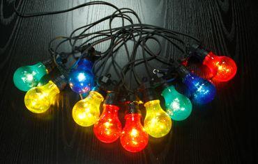 LED Lichterkette NIRVANA Kunststoff schwarz, 10xLED – Bild 1