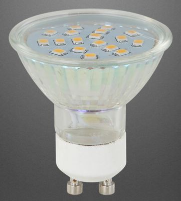 LED Leuchtmittel Glas satiniert, GU10 3W, 250lm, 3000K