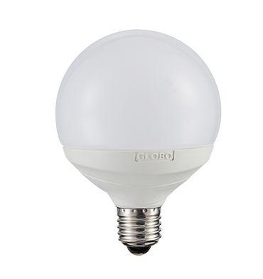 LED Leuchtmittel, 1XE27, silber metallic, Kunststoff opal, Globo 10799