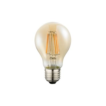 LED Leuchtmittel silber metallic, E27 8W, 630lm, 2200K