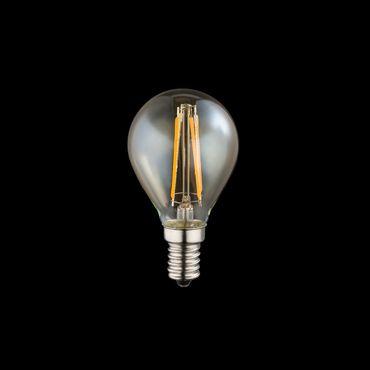 LED Leuchtmittel, silber metallic, Glas amber, Globo 10589A – Bild 2