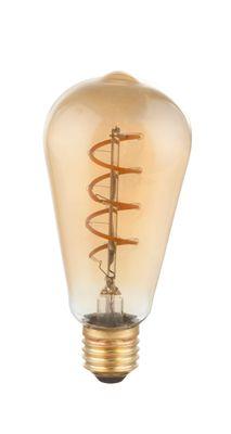 LED Leuchtmittel messing, E27 4W, 200lm, 2000K – Bild 1