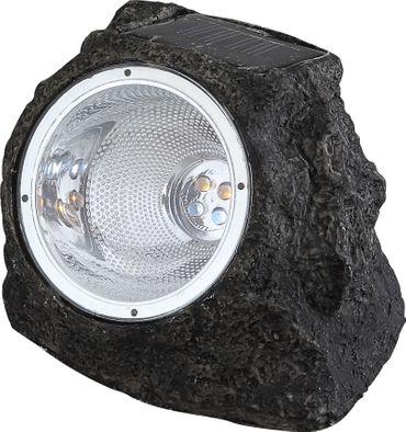 Solarlampe, Kunststoff grau, Kunststoff klar, Globo 3302