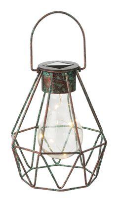 Solarlampe Metall bronzefarben, LED – Bild 1