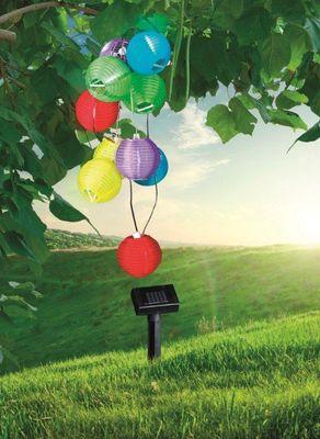 Solarlampe Kunststoff multicolor, LED – Bild 2