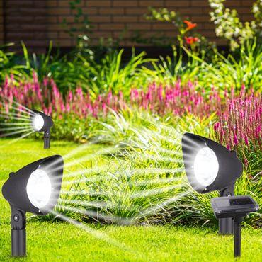 Solarlampe, 3XLED, Kunststoff schwarz, Kunststoff klar, Globo 33027-3 – Bild 2