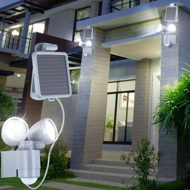 Solarlampe, Aluminium Druckguss, Kunststoff klar, Globo 3715S – Bild 3