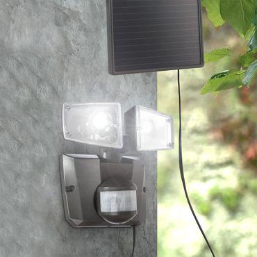 Solarlampe Kunststoff grau, LED, Globo 3717S – Bild 2