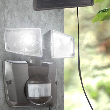 Solarlampe, Kunststoff grau, Kunststoff klar, Globo 3717S – Bild 3