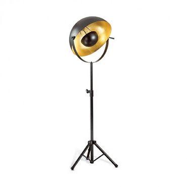 Stehlampe 1-flammig 205cm schwarz/gold