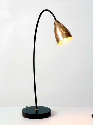 Tischlampe 1-flg. ALICE, Muranoglas weiss mit Blattgold – Bild 1
