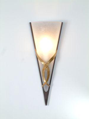 Wandlampe 1-flg. GIGLIO DUE, Eisen braun-schwarz-gold Holländer 300 K 1362