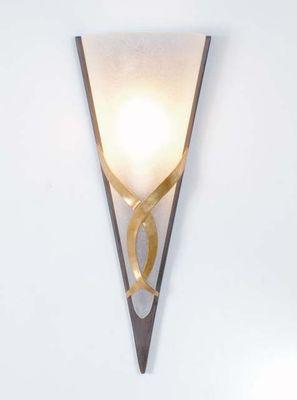 Wandlampe 1-flg. BANDERUOLA UNO, Eisen schwarz-braun-silber Holländer 300 K 1362 S