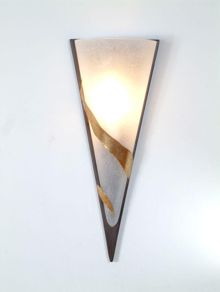 Wandlampe 1-flg. GIGLIO UNO, Eisen braun-schwarz-gold Holländer 300 K 1365