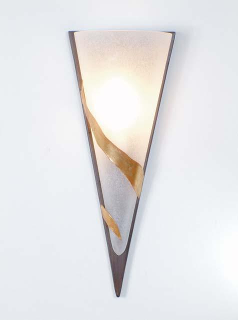 Wandlampe 1-flg. BANDERUOLA DUE, Eisen schwarz-braun-silber Holländer 300 K 1365 S