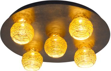 Deckenlampe 5-flg. CARILLON schwarz-braun-silber Holländer 300 K 1678 S – Bild 2