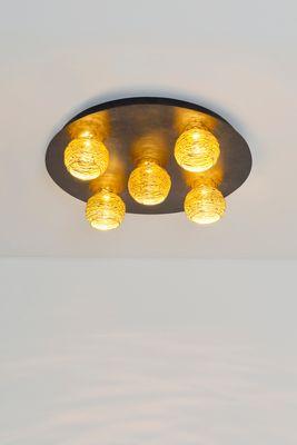 Deckenlampe 5-flg. CARILLON schwarz-braun-silber Holländer 300 K 1678 S – Bild 1