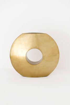 Dekovase GIULIA, Fiberglas blattvergoldet