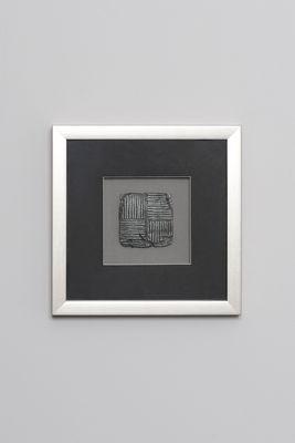 Wandbild RISULTATO 2, Holz-Glas-Kunststein silber-schwarz