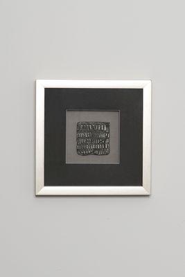 Wandbild RISULTATO 4, Holz-Glas-Kunststein silber-schwarz