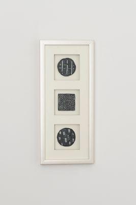 Wandbild DIVISO 1, Holz-Glas-Kunststein silber-schwarz