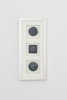 Wandbild DIVISO 2, Holz-Glas-Kunststein silber-schwarz Holländer 306 3141 S