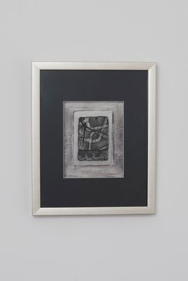 Wandbild IMMAGINE 2, Holz-Glas-Kunststein silber-schwarz